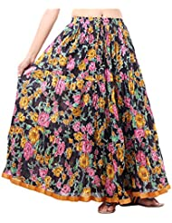 Sunshine Enterprises Women's Cotton Wrap Skirt (Black)