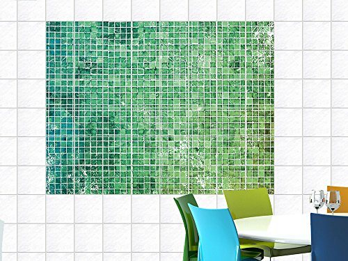 fliesenbilder fliesenaufkleber f r k che mosaikmuster gr n. Black Bedroom Furniture Sets. Home Design Ideas