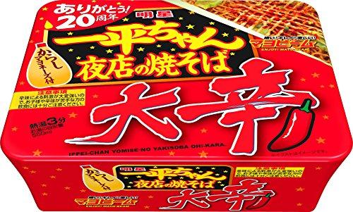 明星 一平ちゃん夜店の焼そば 大辛 121g×12個