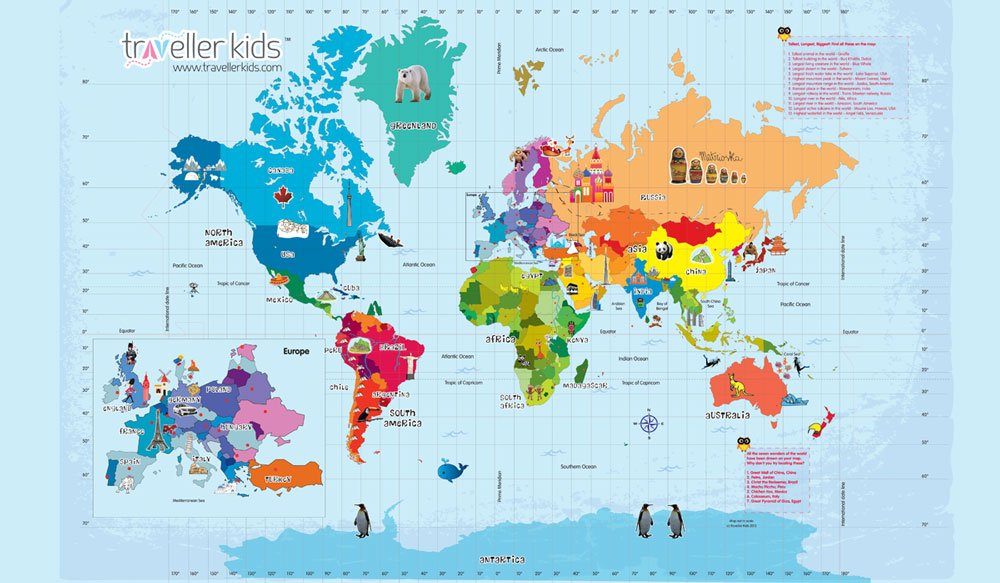Buy Interactive World Map Kit Online at Low Prices in India – Interactive World Travel Map