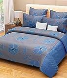 Handloomtrendz Cotton Bedsheet - 90 X 88 Inches, Blue
