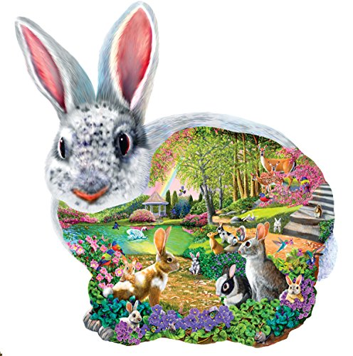 SunsOut Bunny Hollow Shaped 1000 Piece Jigsaw Puzzle Easter Theme
