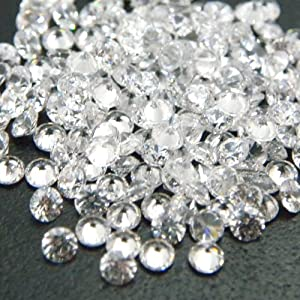 Round 2mm AAAAA Cubic Zirconia White CZ Stone Lot of 50 Pieces