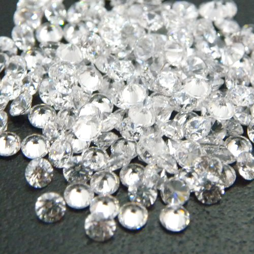 Round 2.75mm AAAAA Cubic Zirconia White CZ Stone Lot of 50 Pieces