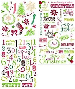 Making Memories Noel Rub On Stickers Advent