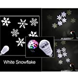 Chiclits New Auto Rotating Projector Lamp Bulb 4W LED Bulb Christmas and Halloween Patterns Sparkling Waterproof Spotlights Decoration Party Light DJ
