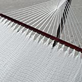 Double Caribbean Hammock - 48 inch - soft-spun polyester - white