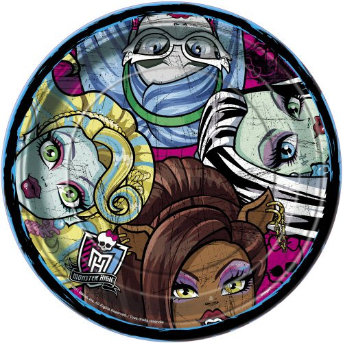 Monster High Dinner Plates, 8ct - 1