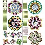 Brewster Wall Pops WPK99817 Peel & Stick Flower Power Wall Art Kit, 2-Sheets