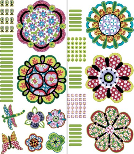 Brewster Wall Pops WPK99817 Peel & Stick Flower Power Wall Art Kit, 2-Sheets