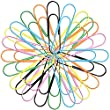 Outus 6 Color 4 Inches Large Metal Paper Clips, 24 Pieces