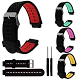 Sport Watch Band, Soft Silicone Replacement Accessories Bracelet Strap for Garmin Forerunner 230/235/630 (Red) (Color: Red)
