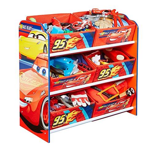 hellohome-disney-cars-kids-cassettiera-legno-blu