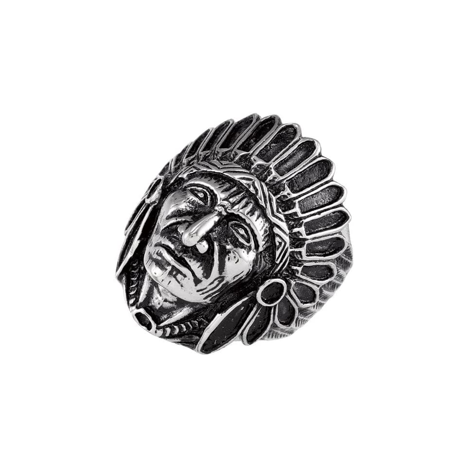 Stainless Steel Indian Head Ring Size 11 Jewelry