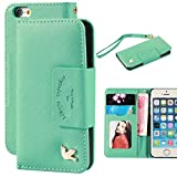 Case for iphone 5,Case for iphone 5s,By Ailun,Card Holder,PU Leather Case,(PureGreen)