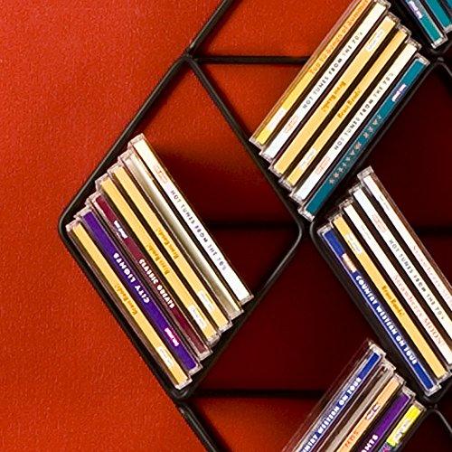 SEI Black Steel Wall-Mount CD Rack