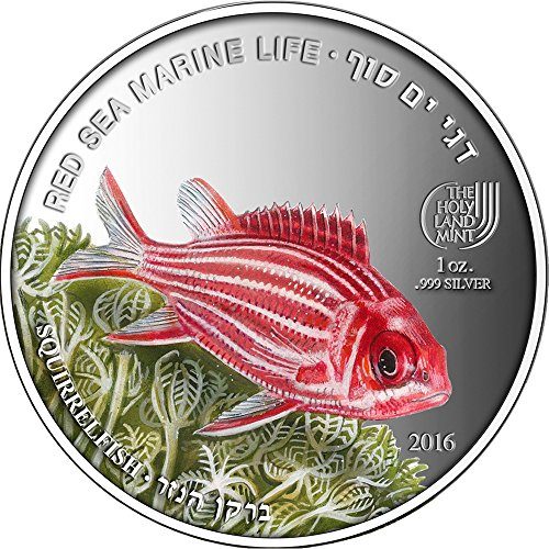 SQUIRRELFISH Red Sea Marine Life 1 Oz Silver Coin 5$ Palau 2016 Pièce Monnaie