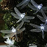 Innoo Tech 20 LED Dragonfly Solar Powered String Lights Outdoor Fairy Lights for Garden Patio Christmas Outside Party Wedding Decoration(white)