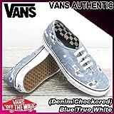 VANS(バンズ) オーセンティック AUTHENTIC (Denim/Checkered) Blue/True White/レディース(ladies') 靴 スニーカー(VN-0VOEAWI)