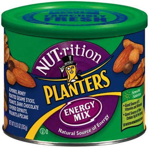 Buy Planters NUTrition Energy Mix, 9.25-Ounce Cans (Pack of 3) (Planters, Health & Personal Care, Products, Food & Snacks, Snacks Cookies & Candy, Snack Food, Trail Mix)