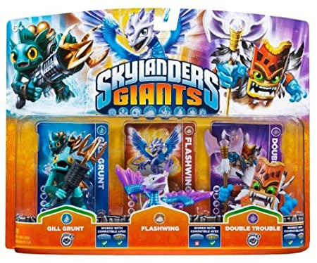 Figurine Skylanders : Giants - Flashwing + GillGrunt + DoubleTrouble