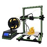 Anet E10 Desktop 3D Printer Aluminum Frame High Precision Reprap 3D Printer DIY Kit Off-line Printing Free 10m Filament (Color: black&green, Tamaño: 50.00 cm x 45.00 cm x 20.00 cm)