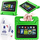 """2013 Kindle Fire Hd 7"""" Cover Case Slim Fit Silicone Plastic Dual Protective Back Cover Standing Case Kid Proof Case for Amazon Kindle Fire Hd 7 Inch(will Not Fit Hd or HDX Models)-multiple Color Options (EVA-Kindle Fire HD 7(2013):Green)"""