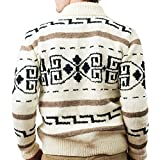 Camp Kitschy Knits Big Lebowski Dude Sweater Medium White & Black