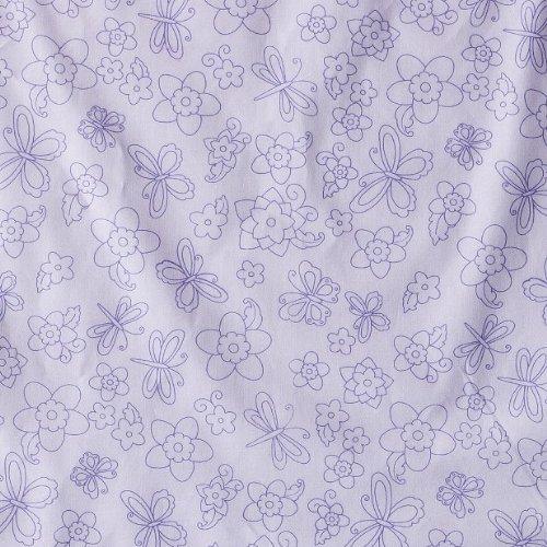 Tiddliwinks Batik Butterfly Fitted Print Sheet - Purple