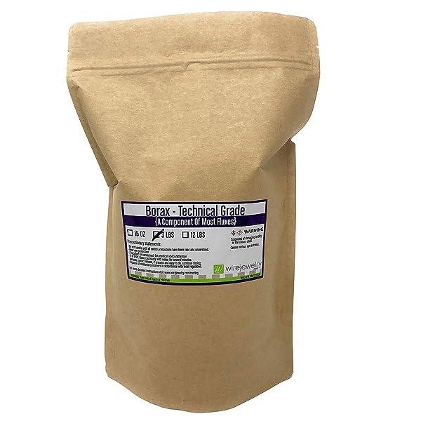 WireJewelry Borax, Technical Grade - 3 Pounds (Tamaño: 3 Pounds)