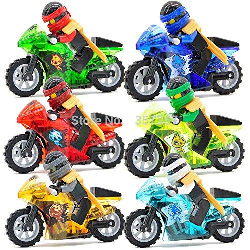 Ninja Motorcycle Tornado Minifigures 6 Pcs/set New Action Building Block Toys (Hobbit Action Figure Set compare prices)