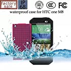 Nancy's shop Dot View Matrix Case Cover For HTC One M8 Waterproof Dirtproof Snowproof Shockproof Skin Hard Phone Shell for HTC One M8 (Black)