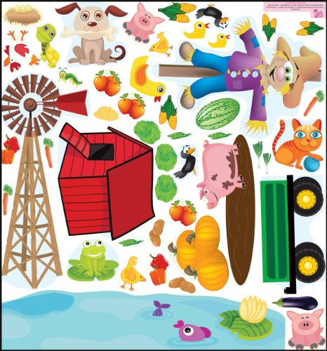 Mona Melisa Designs, Interactive Wall Play Set, Farm Accessory front-901639