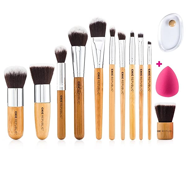 4bb8b42536e4 NEW 11 Piece Professional Makeup Brush Set with Premium Synthetic ...