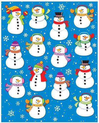 Carson Dellosa Snowmen Shape Stickers (168035) - 1