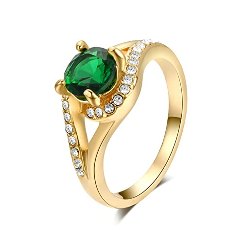 Yoursfs-18K-Rose-Gold-Plated-Vintage-Emerald-Green-Rhinestone-Cocktail-Ring-Wedding-Jewelry