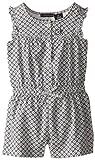 Calvin Klein Little Girls Gray Printed Romper