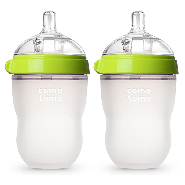Best-Bottles-Breasfeeding-Reviews-Comotomo-Baby-Bottle-Green
