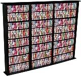 Spartak Bookcase Multimedia Tower - Tall Triple 2413BLACK (Black) (76H x 76W x 9.5D)