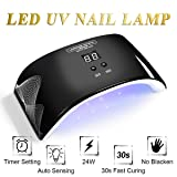 LED UV Nail Lamp UV Nail Light Quick-Drying Black Nail Dryer, with LCD Timer Setting, Senor For Gel Nails and Toe Nail Curing J721