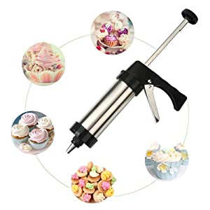 Stainless Steel Icing Decoration Gun Set for Cake Decoration