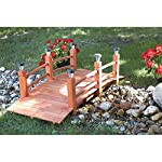 Decorative Wood Bridge With Solar Lights - 5ft.