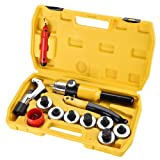Yescom Hydraulic Tube Expander Swaging 7 Lever Expander Tools Kit HVAC Tool w/Case