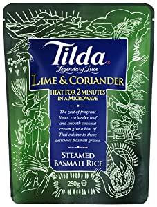Tilda Steamed Basmati Lime and Coriander Rice 250 g (Pack of 6)