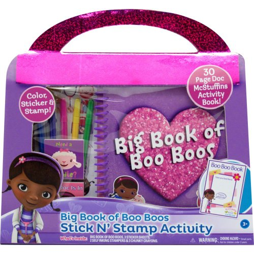 Amazing Disney Doc McStuffins Big Book of Boo Boos Stick N' Stamp Activity