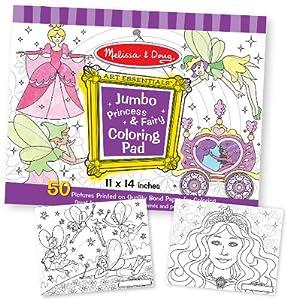 Jumbo Coloring Pad - Princess & Fairy Case Pack 3 Jumbo Coloring Pad - Princess & Fairy Case Pack 3