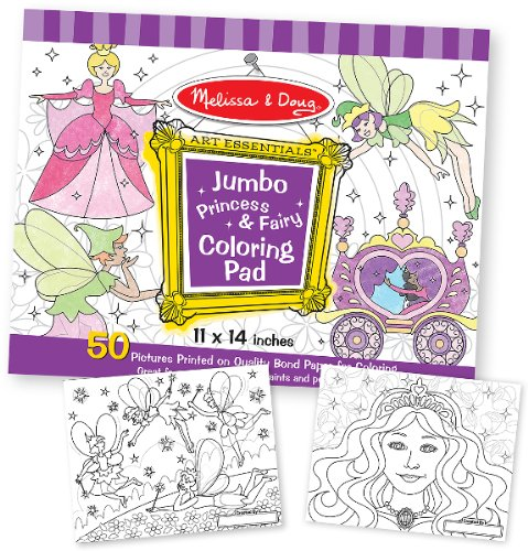 Jumbo Coloring Pad - Princess & Fairy Case Pack 3 Jumbo Coloring Pad - Princess & Fairy Case Pack 3