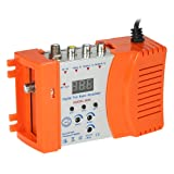 RF Modulator, KKmoon Compact RF Modulator Audio Video TV Converter RHF UHF Signal Amplifier AC120V (Color: Orange)