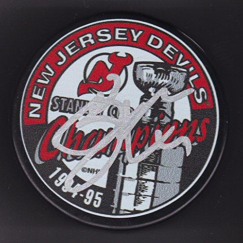 Scott Stevens Autographed Puck New Jersey Devils 1995 Stanley Cup Champs