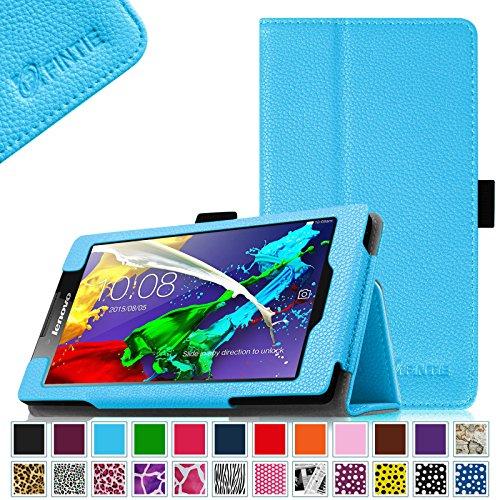 Fintie Lenovo Tab 2 A7-10 / A7-30 Folio Hülle Case Cover Tasche Etui - Premium Leder Schutzhülle mit Auto Sleep / Wake für Lenovo Tab 2 A7-10/ A7-30 17,8 cm (7 Zoll) IPS Android Tablet, Blau